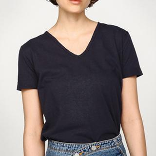 moussy - moussy Tシャツ 切りっぱなし 紺 ネイビー