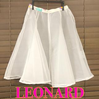 LEONARD - LEONARD レオナール シースルー スカート