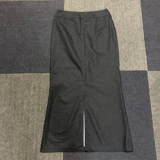 ミッシェルクラン(MICHEL KLEIN)のMICHEL KLEIN ミッシェルクラン ロングスカート 38 M 紺色(ロングスカート)