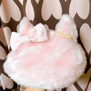 Angelic Pretty - ねこみみファーベレー帽ピンク