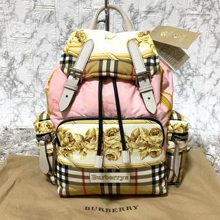 BURBERRY - 新品✨バーバリー スカーフプリント ミディアム リュックサック バッグパック
