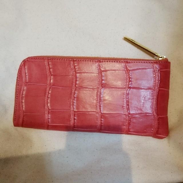 ATAO(アタオ)の【専用】ATAO(アタオ) 長財布 リモ クロコ フラミンゴ レディースのファッション小物(財布)の商品写真