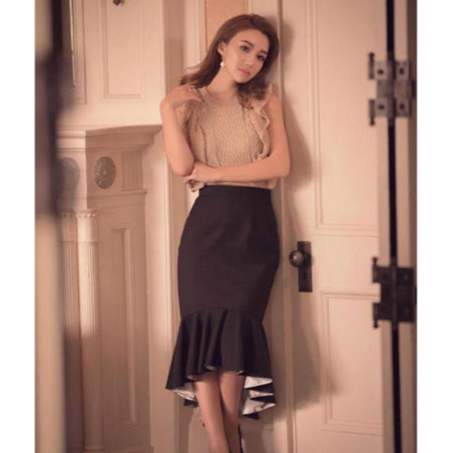 eimy istoire(エイミーイストワール)のchain patternドッキングマーメイドスカート 黒 レディースのスカート(ロングスカート)の商品写真
