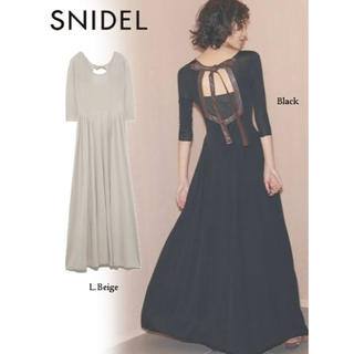 snidel - 【新品未着用タグ付】SNIDEL スナイデル バックオープンニットワンピース