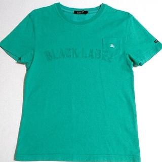 バーバリーブラックレーベル(BURBERRY BLACK LABEL)の🖤人気作デザインTシャツ🖤美品🖤(Tシャツ/カットソー(半袖/袖なし))