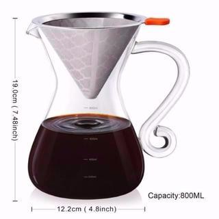 コーヒーサーバー 多機能 コーヒー ポット ステンレスフィルター
