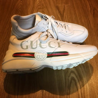Gucci - GUCCI スニーカー オールドロゴ 靴 グッチ レザー