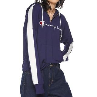 チャンピオン(Champion)の新品 L Champion half zip sweat hoodie navy(パーカー)