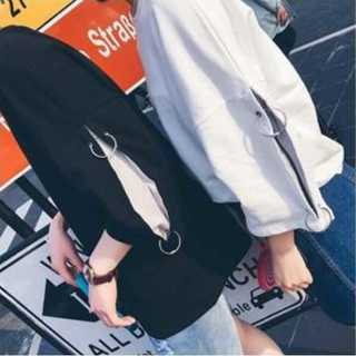 ユニセックスオバーサイズ☆七分袖ワンポイントリングシャツ(Tシャツ(長袖/七分))