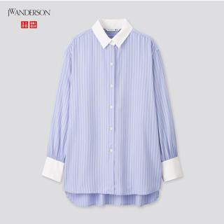UNIQLO - ★今期新品 ユニクロ J.W.ANDERSON レーヨンストライプロングシャツ