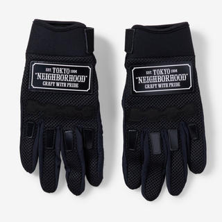 NEIGHBORHOOD - NEIGHBORHOOD RACING GLOVE BLACK size L
