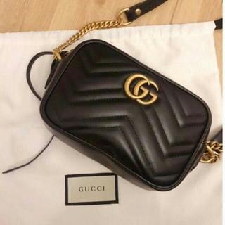 Gucci - GUCCI GGマーモント キルティングスモールショルダーバッグ 正規品