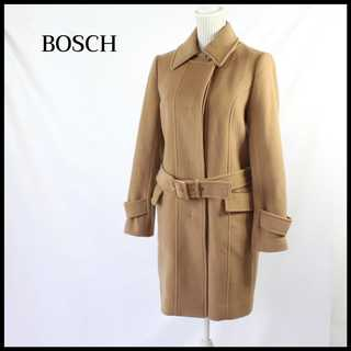 ボッシュ(BOSCH)のボッシュ★ウール素材 ステンカラーコート ベージュ 38(M) 美シルエット(ピーコート)