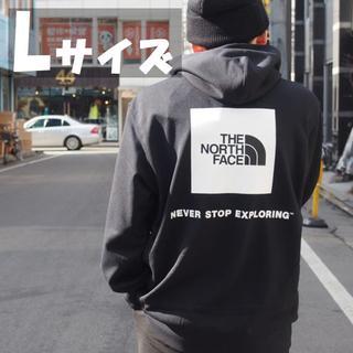 ザノースフェイス(THE NORTH FACE)のセール★Lサイズ★ノースフェイス バック スクエア ロゴ パーカー 黒(パーカー)