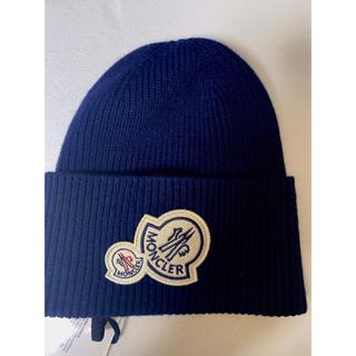 モンクレール(MONCLER)のMONCLER!ニット帽  ロゴ 正規品(ニット帽/ビーニー)