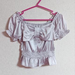 アンクルージュ(Ank Rouge)のアンクルージュ♡サテンリボントップス(シャツ/ブラウス(半袖/袖なし))