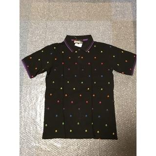 ビームス(BEAMS)の新品未使用 BAEMS ビームス レインボースカルポロシャツ Mサイズ ブラック(ポロシャツ)