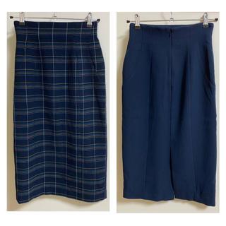 スライ(SLY)のSLY チェックタイトスカート Sサイズ(ロングスカート)