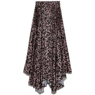 Mila Owen - 《新品タグ付き》ミラオーウェン アシンメトリーヘムプリーツギャザースカート