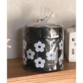マリメッコ(marimekko)のharikko ハリッコ ★ アネモネのお花缶  黒(小物入れ)