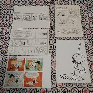 スヌーピー(SNOOPY)のスヌーピー ポストカード 5枚セット(使用済み切手/官製はがき)