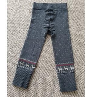 MUJI (無印良品) - 無印良品 北欧柄ニットレギンスグレー 90~100cm