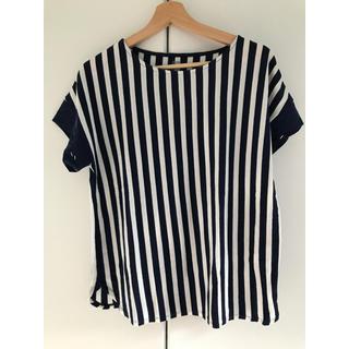 グラニフ(Design Tshirts Store graniph)のボーダー トップス ブラウス ペンギン(シャツ/ブラウス(半袖/袖なし))