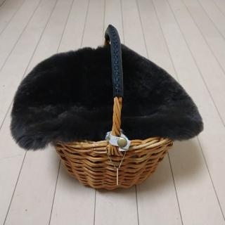 GALLARDA GALANTE -  ガリャルダガランテ ファーフラップ付き ラタン かごバッグ