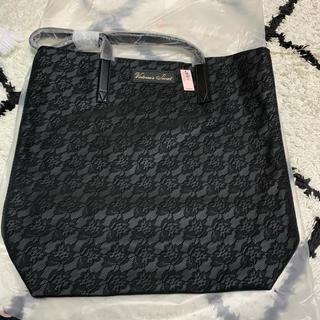 ヴィクトリアズシークレット(Victoria's Secret)の新作♡非売品花柄トートバッグ VS 新品タグ付き ブラック(トートバッグ)