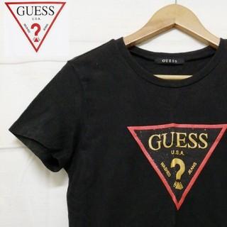 GUESS - GUESS  Tシャツ ブラック デカロゴ メンズ  古着