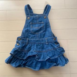 ベビーギャップ(babyGAP)のデニムサロペットスカート サイズ90(スカート)