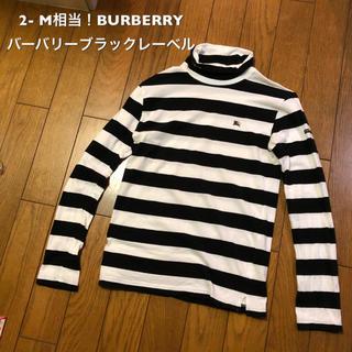 バーバリーブラックレーベル(BURBERRY BLACK LABEL)の2- M相当!BURBERRY バーバリーブラックレーベル 古着長袖ボーダー(Tシャツ/カットソー(七分/長袖))