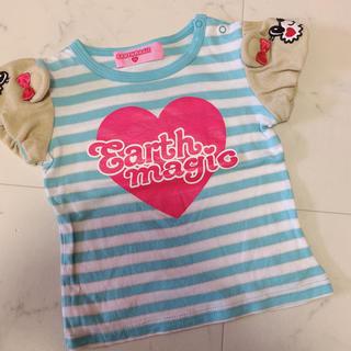 EARTHMAGIC - 肩マフィーTシャツ