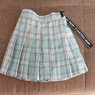 lovetoxic - 140cm lovetoxic チェック柄インパン付きスカート