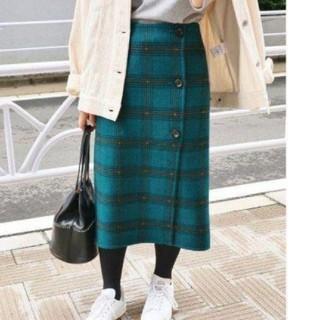 IENA - IENAイエナ Wフェイスリバーシブルミッドカーフスカート【34】完売品