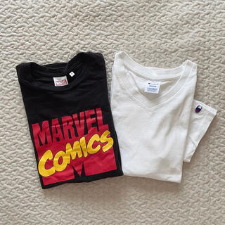 チャンピオン(Champion)のチャンピオン Vネック Tシャツ ホワイト CW-M323 半袖 コットン(Tシャツ(半袖/袖なし))