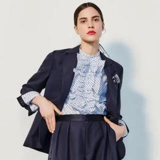 Drawer - 大人気★ドゥロワー  フリル ドット刺繍ブラウス シャツ drawer