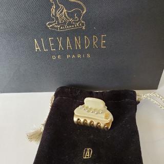 Alexandre de Paris - アレクサンドゥルパリ ヘアクリップ パール 3㎝ アイボリー