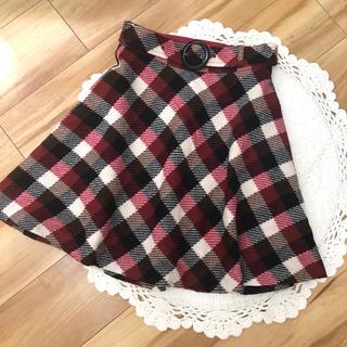 アニエスベー(agnes b.)のto b by agnes b チェック ウール  スカート 36(ミニスカート)