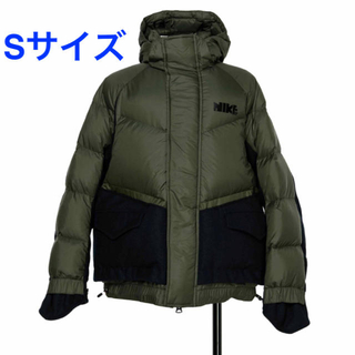 サカイ(sacai)の【新品未使用タグ付】Nike x sacai Men's Parka カーキS (ダウンジャケット)