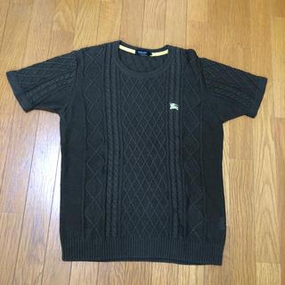 バーバリーブラックレーベル(BURBERRY BLACK LABEL)のバーバリーブラックレーベル 半袖 ニット(ニット/セーター)