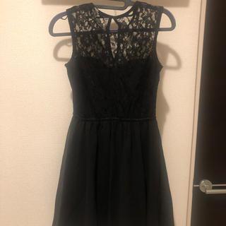 エイチアンドエム(H&M)のシースルーワンピース ドレス(ひざ丈ワンピース)