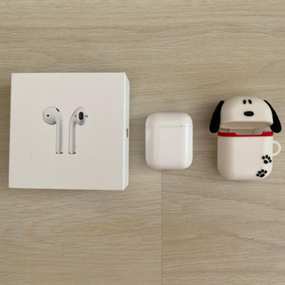 Apple - Airpods エアポッズ スヌーピーケース付き