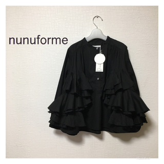 nunuforme  ヌヌフォルム 125 未使用 ダブルフリルブラウス