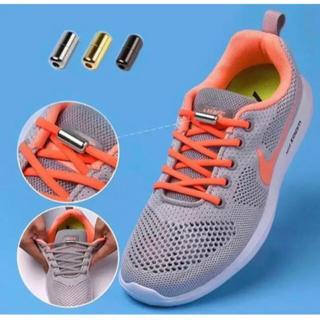 ☆靴紐結ぶ必要無し☆便利アイテムオレンジ結ばない靴紐 1足分 【品質保証】