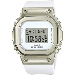 ジーショック(G-SHOCK)のカシオ G-SHOCK ミッドサイズ ユニセックス 腕時計 ホワイト×ゴールド(腕時計(デジタル))