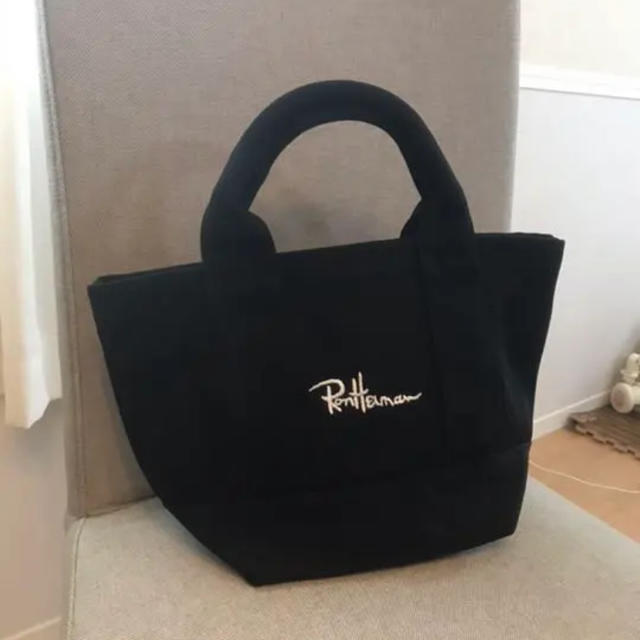 Ron Herman(ロンハーマン)の送料無料!緊急値下げ!!即購入可 ロンハーマン ミニ トートバック ブラック レディースのバッグ(トートバッグ)の商品写真