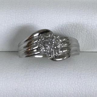 ★サイズ16号★プラチナPt900ダイヤモンド・デザインリング★0.25ct★(リング(指輪))