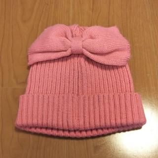 サンカンシオン(3can4on)の3can4on リボン付き ニット帽(帽子)