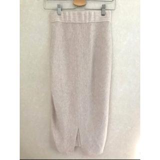DouDou - DouDou タック柄ニットタイトスカート